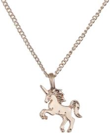 Unicorn / eenhoorn ketting goudkleurig