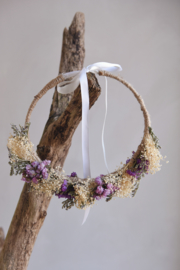 Droogbloemen haarband handmade (verstelbaar) nr5