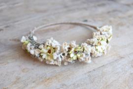 Droogbloemen haarband handmade nr6