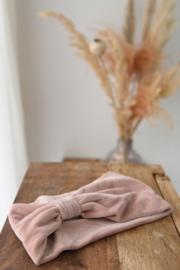 Hoofdband Velvet roze