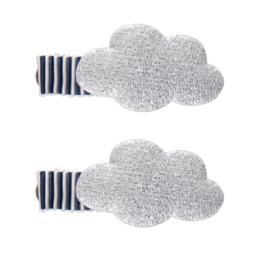 Haarclip wolk-streep