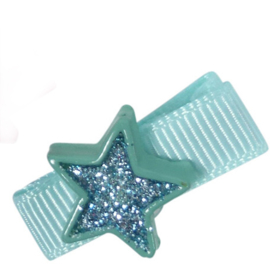 Clipje ster turquoise 3cm