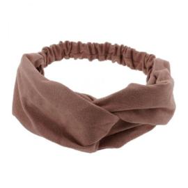 Haarband velvet oud roze