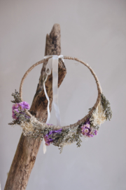Droogbloemen haarband handmade (verstelbaar) nr 4