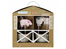 Meri Meri Cupcake set boerderij