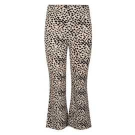 Ambika flared legging leopard wit