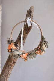 Droogbloemen haarband handmade (verstelbaar) nr 3