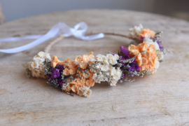 Droogbloemen haarband handmade nr 2