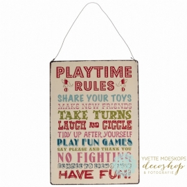 Tekstbord playtime rules