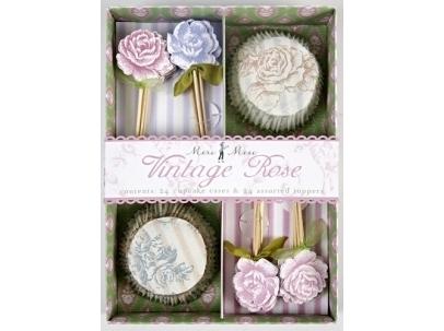 Meri Meri cupcake set vintage rose