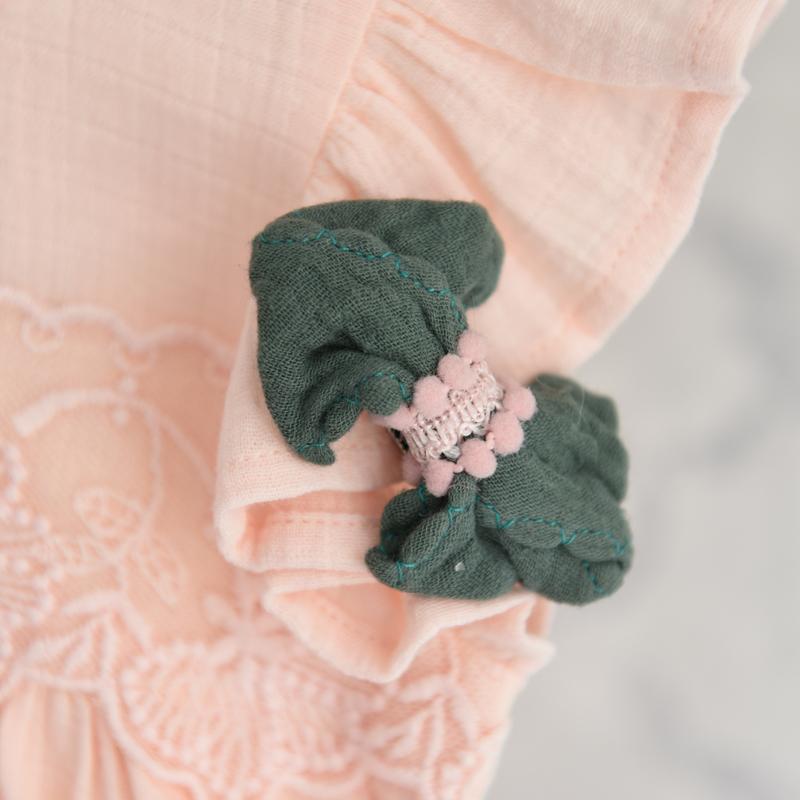 Haarclip linnen strik groen