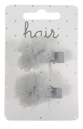 Haarclips chiffon grijs