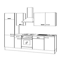 Keuken Lava hoogglans met of zonder apparatuur Arne
