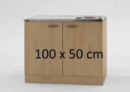 Spoelbak met onderkast steigerhout 100x50cm
