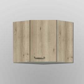 Hoek bovenkast Elba wit met edel beuken design 60x60x57,6