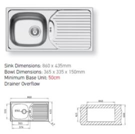 keuken pantry opstelling 150x60cm zonder bovenkast