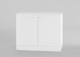 Onderkast tbv spoelbak wit 100x60 cm zonder werkblad