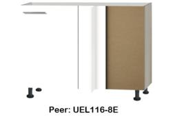 Hoekonderkast 110x60 cm zonder werkblad Peer