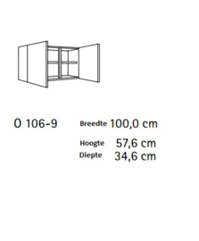 Bovenkast 100 x 57,6 x 34,6 cm steigerhout decor