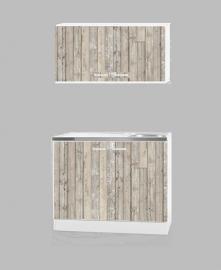 Onderkast bovenkast steigerhout look 100X50 cm