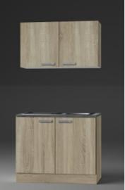 Eiken/eiken keuken pantry opstelling 100x60cm