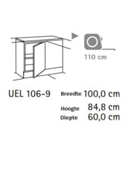 Hoek Onderkast Beuken 110x60x85cm
