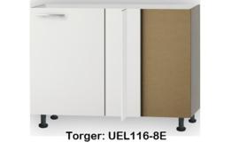 Hoekonderkast 110x60 cm zonder werkblad Torger