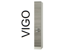 Apothekerskast Vigo pijnboom nougat 30x60x206,8 cm