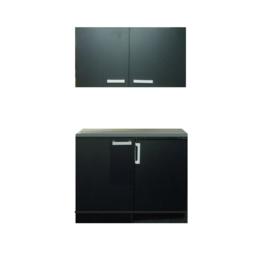 Onder en bovenkast inclusief koelkast 100x60 cm