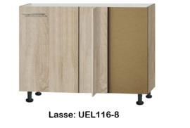 Hoek onderkast 110cm zonder werkblad Lasse