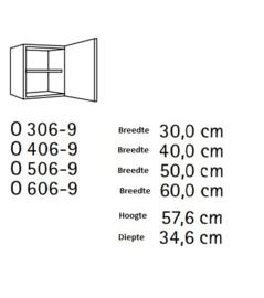Bovenkast Oslo Glas 50x57,6cm