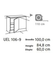 Hoek onderkast 110x60 cm