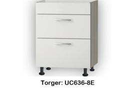 Onderkast 60cm met 2x uittreklade, zonder werkblad Torger