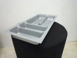 Besteklade grijs 21,7 x 47,4 cm (geschikt voor lade 30x60)