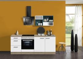 Antraciet Kook blok met Wit Blauw 210x60cm