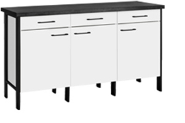 Buffetonderkast 158 cm Alex wit decor