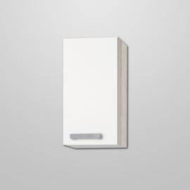 Bovenkast Genf wit met akazia design 30x57,6
