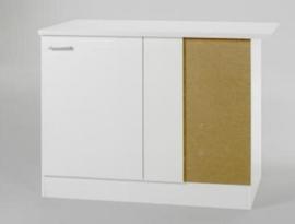 Hoek Onderkast Wit 110x60x85cm