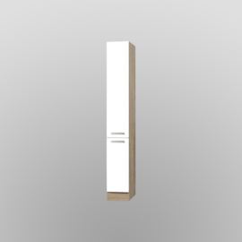 Apothekerskast Zamora wit/ licht eiken decor  30x60x206,8 cm
