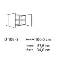 Bovenkast Imola 100x57,6