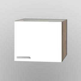 Bovenkast Zamora wit met licht eiken design 60x57,6