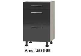 Onderkasten met uittreklade, zonder werkblad Arne