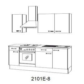 Keuken zonder hoge kast Lava hoogglans met of zonder apparatuur Arne