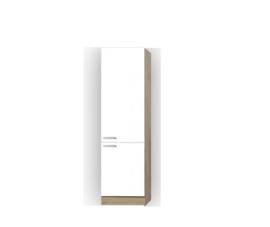 Hogekast Zamora wit/ licht eiken decor 209x60x30 cm