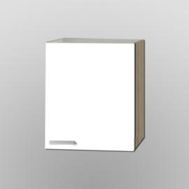 Bovenkast Zamora hoog wit met licht eiken design 60x89,6