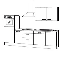 Complete keuken met of zonder apparatuur Torger Wit NougatPijnboom