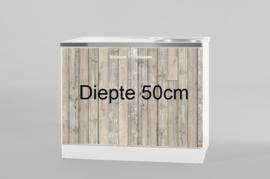 Spoelbak RVS met onderkast 100x50 cm