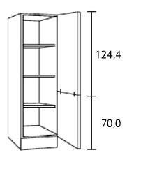 Hogekast 60x60x206,8 cm steigerhout