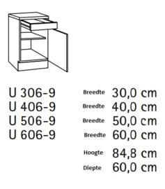 Onderkast Oslo 30x60cm