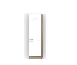 Hogekast klep  Zamora wit/ licht eiken decor 209x60x30 cm